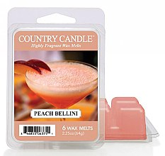 Parfémy, Parfumerie, kosmetika Vosk do aromalampy - Country Candle Peach Bellini Wax Melts