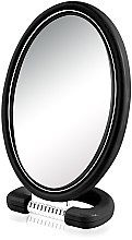 Parfémy, Parfumerie, kosmetika Kosmetické zrcadlo 9510, oválné, oboustranné, 22,5 cm, černé - Donegal Mirror