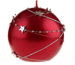 Parfémy, Parfumerie, kosmetika Dekorativní svíčka červená, 10x10cm - Artman Christmas Garland