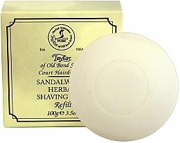 Parfémy, Parfumerie, kosmetika Mýdlo na holení Santalové dřevo - Taylor Of Old Bond Street Sandalwood Herbal Shaving Soap Refill