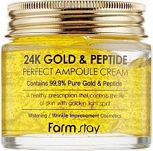 Parfémy, Parfumerie, kosmetika Ampulový krém se zlatem a peptidy - FarmStay 24K Gold & Peptide Perfect Ampoule Cream