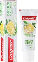 """Parfémy, Parfumerie, kosmetika Zubní pasta """"Dokonalá svěžest"""" - Colgate Natural Extracts Ultimate Fresh Lemon"""
