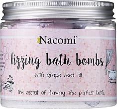 Parfémy, Parfumerie, kosmetika Sada bomb do koupele - Nacomi Fizzing Bath Bomb With Grape Seed Oil (bomb/4ks)