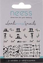 Parfémy, Parfumerie, kosmetika Samolepky na nehty, 3684, BD-007 - Neess