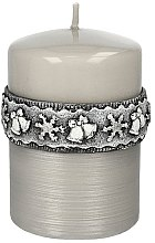 Parfémy, Parfumerie, kosmetika Dekorativní svíčka šedá 10x7cm - Artman Christmas Time