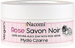 Parfémy, Parfumerie, kosmetika Černé mýdlo s růžovou vodou - Nacomi Savon Noir Natural Black Soap with Rode Water