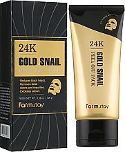 Parfémy, Parfumerie, kosmetika Slupovací maska s 24K zlatem a hlemýždím mucinem - FarmStay 24K Gold Snail Peel Off Pack