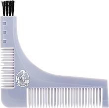 Parfémy, Parfumerie, kosmetika Hřeben a šablona na zastřihování vousu, šedá - Man'S Beard