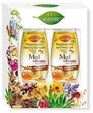 Parfémy, Parfumerie, kosmetika Sada - Bione Cosmetics Honey + Q10 (shm/260ml+sh/gel/300ml)