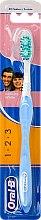 Parfémy, Parfumerie, kosmetika Zubní kartáček, světle modrý - Oral-B 1 2 3 Delicat White 40 Medium
