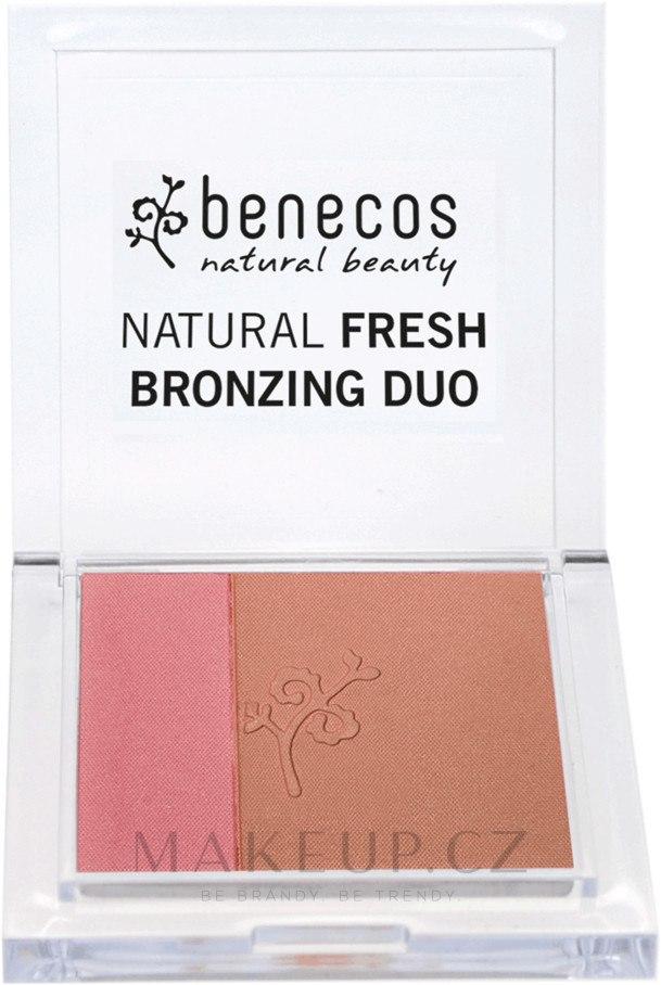 Tvářenka-bronzer na obličej - Benecos Natural Fresh Bronzing Duo — foto Ibiza Nights
