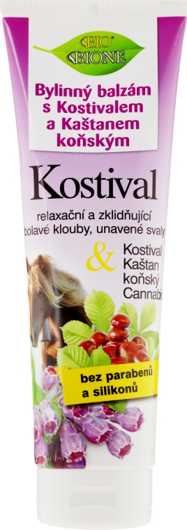 Balzám na nohy - Bione Cosmetics Cannabis Kostival Herbal Ointment with Horse Chestnut