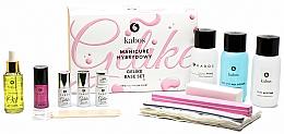 Parfémy, Parfumerie, kosmetika Sada na manikúru, 13 produktů.  - Kabos Base Set Gelike Pink