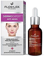 Parfémy, Parfumerie, kosmetika Omlazující noční kyselinový peeling na obličej - Floslek Dermo Expert Anti Aging Peeling