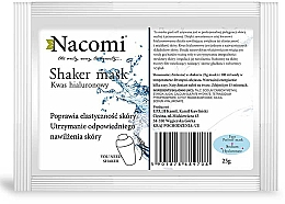Parfémy, Parfumerie, kosmetika Alginátová obličejová maska s kyselinou hyaluronovou - Nacomi Shaker Mask