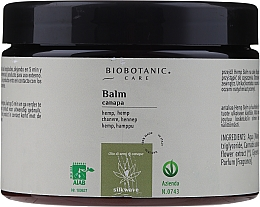 Parfémy, Parfumerie, kosmetika Vlasový balzám s olejem z konopných semen - BioBotanic Silk Wave Hemp Balm