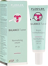 Parfémy, Parfumerie, kosmetika Normalizující denní krém na obličej - FlosLek Balance T-Zone Normalizing Day Cream SPF 10