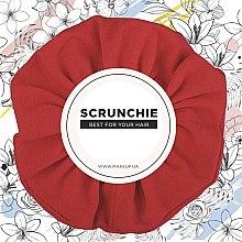 """Parfémy, Parfumerie, kosmetika Gumička na vlasy úplet, červená, """"Knit Classic"""" - MakeUp Hair Accessories"""
