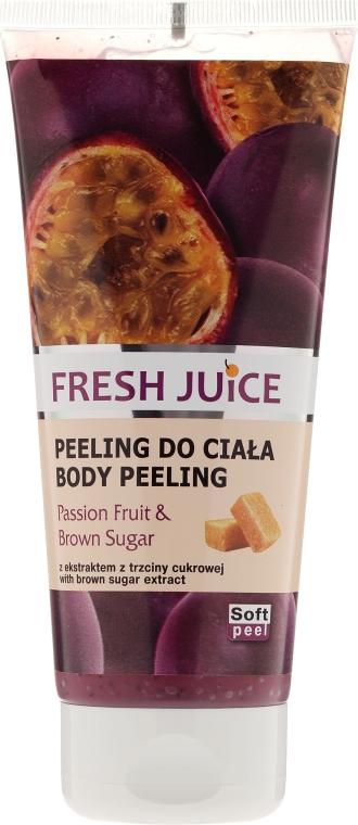 """Tělový peeling """"Vášeň a hnědý cukr"""" - Fresh Juice Passion Fruit & Brown Sugar"""