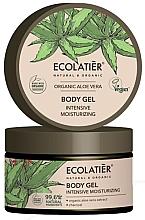 Parfémy, Parfumerie, kosmetika Zvlhčující tělový gel Organické Aloe Vera a Uhlí - Ecolatier Organic Aloe Vera Intensive Moisturizing Body Gel