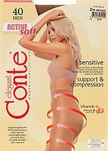 Parfémy, Parfumerie, kosmetika Punčocháče Active Soft 40 Den, natural - Conte