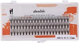 Parfémy, Parfumerie, kosmetika Umělé řasy, C 13 mm - Ibra 20 Flares Eyelash Knot-fre Naturals