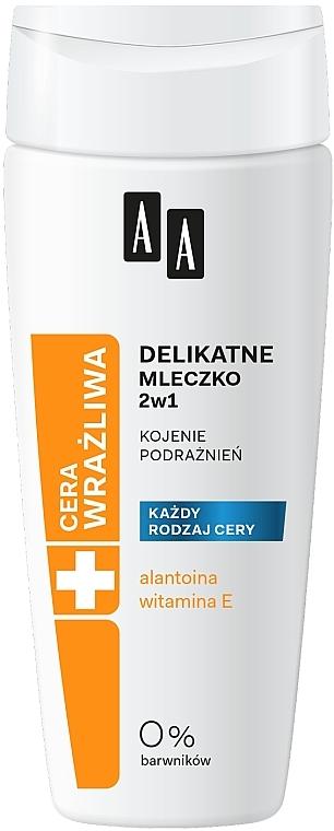 Delikátní odličovací mléko 2v1 - AA Technolgia Wieku Cera Wrażliwa Delicate Milk 2 in 1 — foto N1