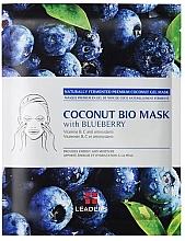 """Parfémy, Parfumerie, kosmetika Zpevňující maska """"Borůvka"""" - Leader Coconut Bio Mask With Blueberry"""