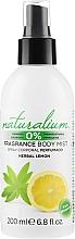 Parfémy, Parfumerie, kosmetika Sprej na tělo - Naturalium Herbal Lemon Body Mist
