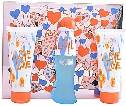 Parfémy, Parfumerie, kosmetika Moschino I Love Love - Sada (edt/50ml+b/lot/100ml+sh/gel/100ml)
