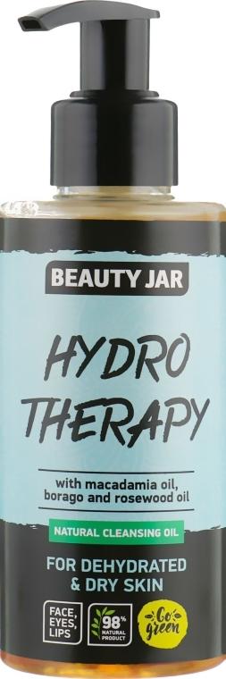 """Čisticí olej pro dehydratovanou pleť obličeje """"Hydro Therapy"""" - Beauty Jar Natural Cleansing Oil"""