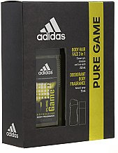 Parfémy, Parfumerie, kosmetika Adidas Pure Game - Sada (deo/75ml +sh/gel/250ml)