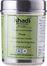 """Parfémy, Parfumerie, kosmetika Bylinná maska na obličej """"Neem"""" - Khadi"""
