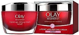 Parfémy, Parfumerie, kosmetika Noční krém proti stárnutí - Olay Regenerist 3 Point Age-Defying Cream Night