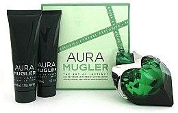 Parfémy, Parfumerie, kosmetika Mugler Aura Mugler - Sada (edp/50ml + b/lot/50ml + sh/gel/50ml)