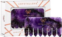 Parfémy, Parfumerie, kosmetika Ametistový masážní hřeben na pokožku hlavy - Crystallove