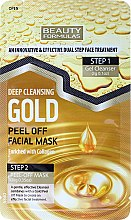Parfémy, Parfumerie, kosmetika Maska na obličej - Beauty Formulas Deep Cleansing Gold Peel Off Facial Mask