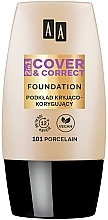 Parfémy, Parfumerie, kosmetika Tekutý make-up 2v1 - AA 2in1 Cover&Correct Foundation