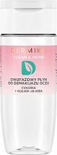 Parfémy, Parfumerie, kosmetika Dvoufázový prostředek na odstranění make-upu z očí čakanka + olej jojoba - Dermika Clean & More