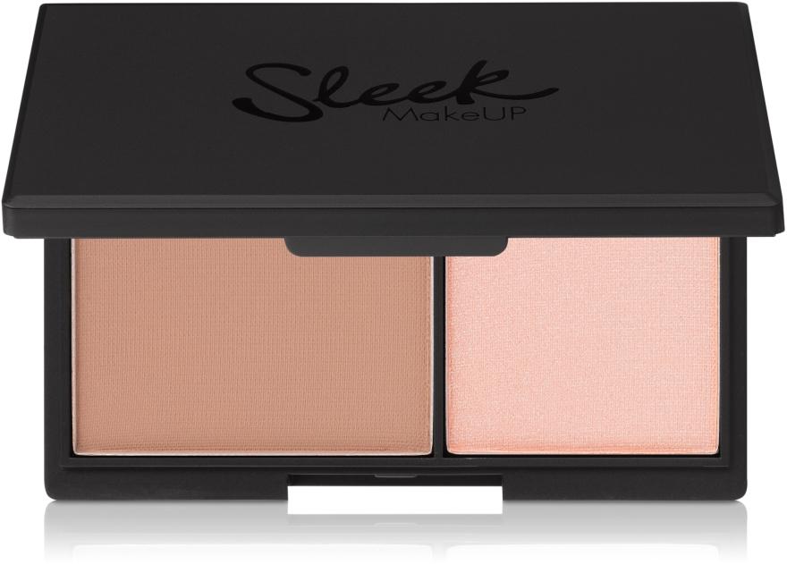 Matný pudr a rozjasňovač na obličej - Sleek MakeUP Face Contour Kit