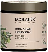 Parfémy, Parfumerie, kosmetika Mýdlo na tělo a vlasy Měkkost a něžnost - Ecolatier Organic Olive Body & Hair Liquid Soap
