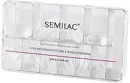 Parfémy, Parfumerie, kosmetika Tipy - Semilac Tips Box Klar
