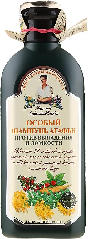 Speciální šampon Agafyy proti vypadávání a lámavosti vlasů - Recepty babičky Agafyy