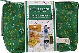 Parfémy, Parfumerie, kosmetika Sada - L'Occitane Christmas Set (balm/15ml + f/mask/6ml + b/milk/20ml + h/cr/10ml + shm/35ml + sh/gel/30ml + bag)
