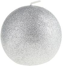 Parfémy, Parfumerie, kosmetika Dekorativní svíčka, koule, stříbrná, 8 cm - Artman Glamour