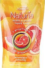 """Parfémy, Parfumerie, kosmetika Tekuté mýdlo """"Grapefruit"""" - Joanna Naturia Body Grapefruit Liquid Soap (Refill)"""