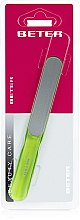 Parfémy, Parfumerie, kosmetika Pilník na nehty s laserovým povrchem, ergonomický, světle zelený - Beter Beauty Care