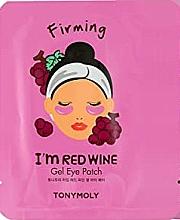 Parfémy, Parfumerie, kosmetika Gelové náplasti pod oči s extraktem z červených hroznů - Tony Moly Red Wine Eye Mask