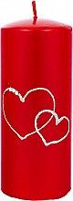 Parfémy, Parfumerie, kosmetika Dekorativní svíčka červená, 7x17cm - Artman Forever