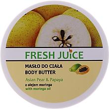 Parfémy, Parfumerie, kosmetika Tělový krém-olej Asijská hruška a papája - Fresh Juice Asian Pear & Papaya